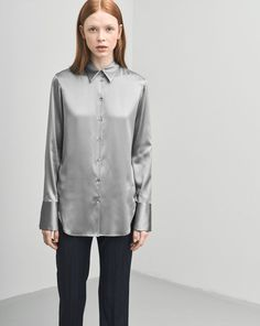 8059e0ec616b5 Tailored Silk Shirt - Blouses - Woman - Filippa K Studded Shirt