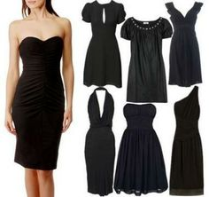 Little black dress- so many different necklines