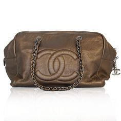 Chanel Bronze Leather Bag
