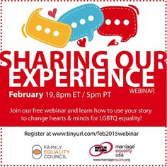 """""""Sharing Our Experience"""" Webinar Tomorrow"""