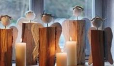 Doberman's by the Sea: Christmas angels out of wood logs-tutorial (DIY crafts)