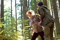 "Ep. 2 Nice Town You Picked, Norma (Bates Motel) Pic 11/12. The next day, Emma and Norman head out towards a mountain depicted in the manga. As they make their way through the woods, they find something unusual. ""It's one of the pot fields,"" Emma says, matter-of-factly. ""I've heard about them, but I've never actually seen one."" Just then two armed guards show up and give chase. As Emma and Norman run through the trees, Emma spots the cabin drawn in the 'manga' . The keep running. AETV.com"