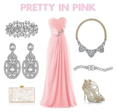 Prom 2016 Pretty in Pink - TrendyTimelessJewelry.com by trendytimelessjewelry on Polyvore featuring Jimmy Choo, Edie Parker, Chloe + Isabel, spring2016, prom2016, TrendyTimelessJewelry and RedCarpet2016