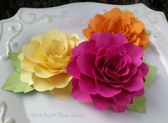 """Large 5.5"""" paper Flowers designed by Anna Fearer"""