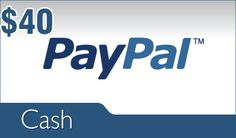 Enter to win a $40 Paypal Gift Card.