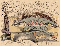 Wilhelm Busch: The Virtuoso XIV. Old Art, Manga Comics, Comic Artist, Classical Music, Disney Characters, Fictional Characters, Illustration Art, Animation, Cartoon
