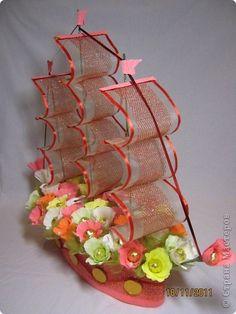 Свит-дизайн День рождения Моделирование конструирование Мои кораблики Бумага гофрированная фото 1