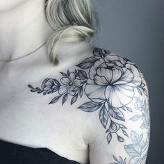 Image result for black and gray floral sleeve