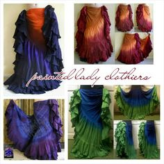 25 yrd petticoat skirts, from  Painted Lady Clothier's,