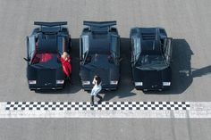 The three generations of Lamborghini Countach