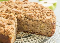 This Apple Coffee Cake with Crumb Topping is the perfect fall breakfast or dessert -- Greek yogurt makes it so moist and it's loaded with apples and the best crunchy brown sugar streusel! Apple Desserts, Apple Recipes, Baking Recipes, Delicious Desserts, Cake Recipes, Dessert Recipes, Fall Desserts, Apple Crumb Cakes, Apple Coffee Cakes