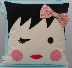 Adorable handmade pillow from Moose and Bird. http://www.etsy.com/shop/mooseandbird