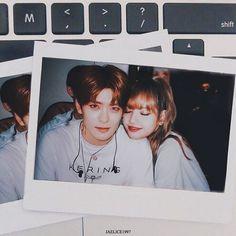 Jaehyun x Lalisa ( Korean Couple, Best Couple, Kpop Couples, Cute Couples, Korean Best Friends, Lisa Blackpink Wallpaper, Blackpink And Bts, Fake Photo, Jaehyun Nct