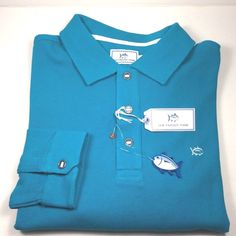 SOUTHERN TIDE MEN'S SKIPJACK LONG SLEEVE COOL BREEZE POLO SHIRT. SIZE. XL.NWT #SouthernTide #PoloRugby