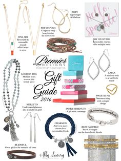 You've been waiting for it! Here's my 2016 Premier Designs Gift Guide. See our full collection of jewelry at http://abbylowery.mypremierdesigns.com #pdstyle #pdbling #Christmas #gifts #jewelry #giftguide