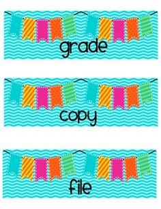 FREE Copy, Grade, File Organization Labels for Sterlite 3 Drawer Desk Organizer