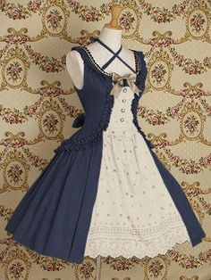 Series VII.  Royal blue dresses by Mary Magdalene. #dresses #lolita #fashion