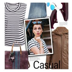 Casual by beebeely-look on Polyvore featuring Citizens of Humanity, Puma, casual, striped, weekendstyle, BoldStripes and twinkledeals