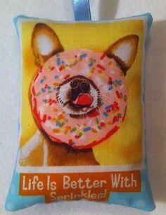 Chihuahua Gift  /Chihuahua Fabric Lavender Bag / Dog Gift - Handmade