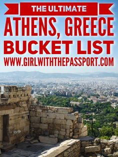 Heading to #athens #greece? This post had everything you need to #plan the perfect #trip to this historic city. Creat the ultimate #itinerary and #bucket #list to make your #visit so much easier.