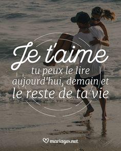 Pour toujours... #phrase #amour #love #quote #citation #mariage #wedding #couple #boda #amor #frase