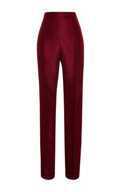 Shop Cuffed Silk-Faille Cigarette Pants by Rosie Assoulin Now Available on Moda Operandi