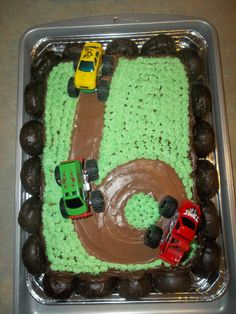 Monster truck cupcakes Food Pinterest Monster truck cupcakes