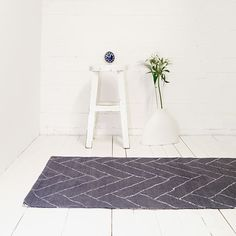 Aitta Rug - Grey/White, receycled Cotton - by Saana ja Olli for Finarte #MONOQI