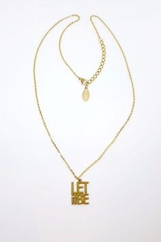 "DELICATE LET IT BE NECKLACE  14k gold plated  18"" long chain with 2"" extension Gold Let-It-Be Necklace by Jaeci. Accessories - Jewelry - Necklaces - Delicate Accessories - Jewelry - Necklaces - Pendant Seattle  Washington"