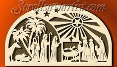 Scroll Saw Patterns :: Religious & Inspirational :: Other projects :: Nativity scene -