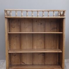Victorian Pine Wall Shelves.  Decorative bobbin top (so nothing falls off), reeded sides & fully adjustable/moveable shelves.