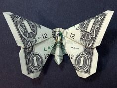 New Origami Butterfly Money Tooth Fairy 58 Ideas Origami Insects, Instruções Origami, Origami Star Box, Dollar Origami, Origami Butterfly, Origami Animals, Origami Design, Origami Folding, Origami Rhino