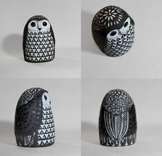 Owl by Mari Simmulson a Swedish designer for Upsala-Ekeby. Ceramic Birds, Ceramic Pottery, Harry Potter Classes, Clay Birds, My Sewing Room, Button Art, Deco, Homemade Gifts, Nostalgia