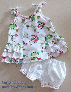Baby Girl Dress Patterns, Baby Clothes Patterns, Little Girl Dresses, Girls Dresses, Baby Girl Dress Design, Cute Baby Dresses, Baby Bloomers Pattern, Sunny Dress, Kids Dress Wear