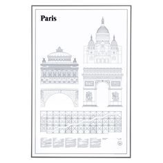 Paris Elevations poster i gruppen Posters / Posters hos RUM21.se (116817)