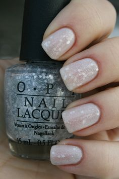 One layer of OPI Pirouette my Whistle over OPI Don't Touch my Tutu