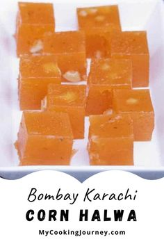 Bombay Karachi Halwa is a chewy and glossy halwa made with corn starch. A simple halwa which is quick and easy to make and is a crowd pleaser. Indian Chicken Recipes, Goan Recipes, Indian Dessert Recipes, Indian Food Recipes, Indian Appetizers, Indian Snacks, Indian Cake, Indian Soup, Buttered Corn
