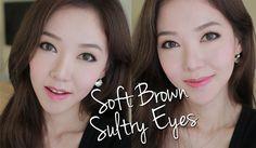 Soft Brown Sultry Eyes ♥ 브라운 메이크업 (KOR SUB/한글자막)