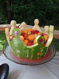 Watermelon crown! I decorated with peel and stick jewels.