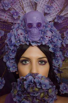 Love this purple headdress