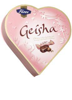 Heart shaped Finnish Chocolate by Fazer