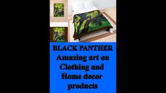 These terrific Black Panther art on clothing and home decor products originate from old Afrikaans story books of the 1980's, front covers. The covers were restored first and then made into a great new art form. To see more of these type of art, go to below link. Black Panther Art, Story Books, Afrikaans, Types Of Art, Art Forms, Online Art, New Art, Home Accessories, Online Printing
