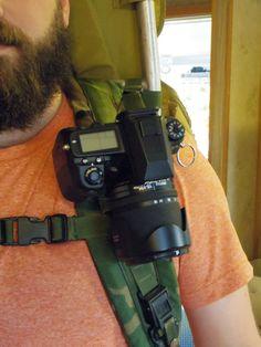 DIY camera mount for backpack