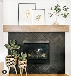 Home Fireplace, Fireplace Remodel, Fireplace Design, Fireplaces, Fireplace Tiles, My Living Room, Home And Living, Living Room Decor, Simple Living