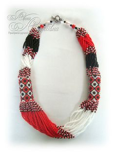 Granos ucranianos tradicionales collar. por FairAnna en Etsy