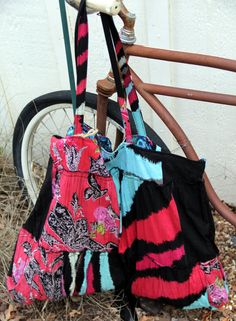 Large RedBlack and Blue Patch  Cotton  by brigidbrammerbags, $26.00
