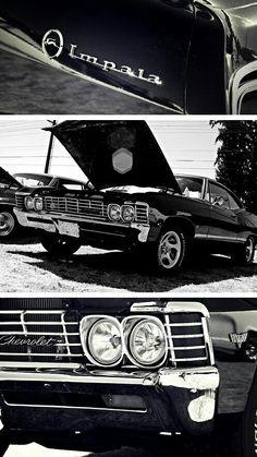 Baby Chevy Impala on Supernatural ♡ Supernatural Series, Supernatural Wallpaper, Winchester Supernatural, Supernatural Fandom, 1967 Chevy Impala Supernatural, Impala 67, Chevrolet Impala 1967, Bugatti, Maserati