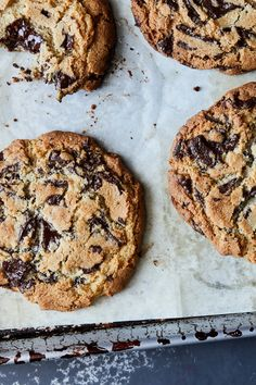 NYT Cooking: Almond flour is the only special ingredient needed to make these co. Almond Flour Cookies, Gluten Free Chocolate Chip Cookies, Best Chocolate Chip Cookie, Gluten Free Cookies, Almond Flour Baking, Paleo Cookies, Chocolate Bars, Vegan Chocolate, Gluten Free Sweets