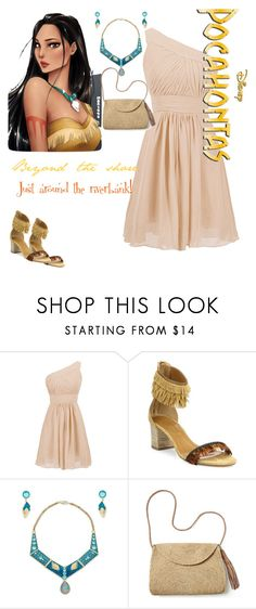 """""""Pocahontas formal"""" by oneatwphogeebaby ❤ liked on Polyvore featuring Disney, Aquazzura and Mar y Sol"""