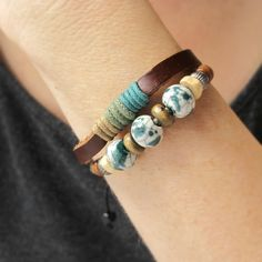 LEATHER BRACELETS for Women Leather Cuffs For by AmysLeatherLane